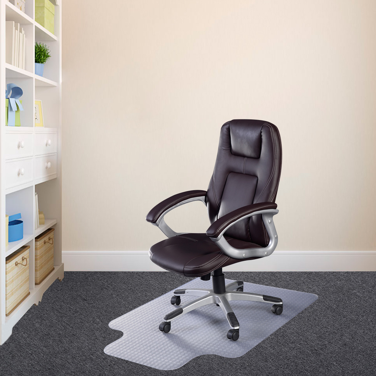 Standard Pile Carpet Chair Office Mat With Lip   Chair Mats   Office U0026 Chair  Mats   Office Supplies