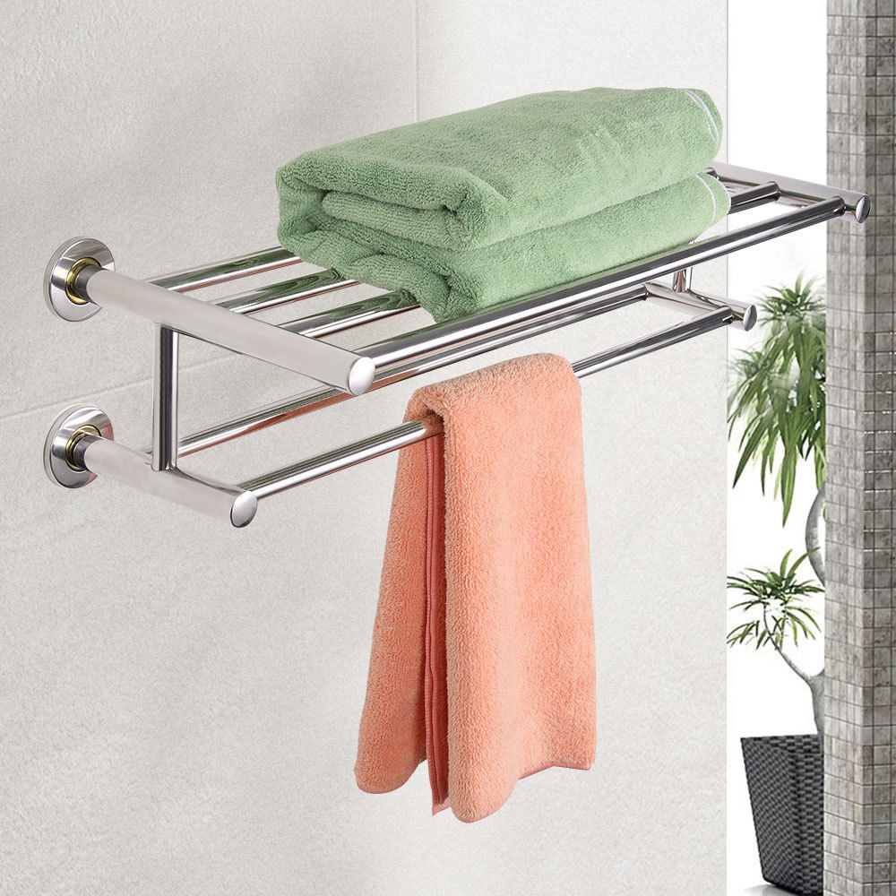 wall mounted bathroom towel rack towel racks holders bathroom accessories home garden