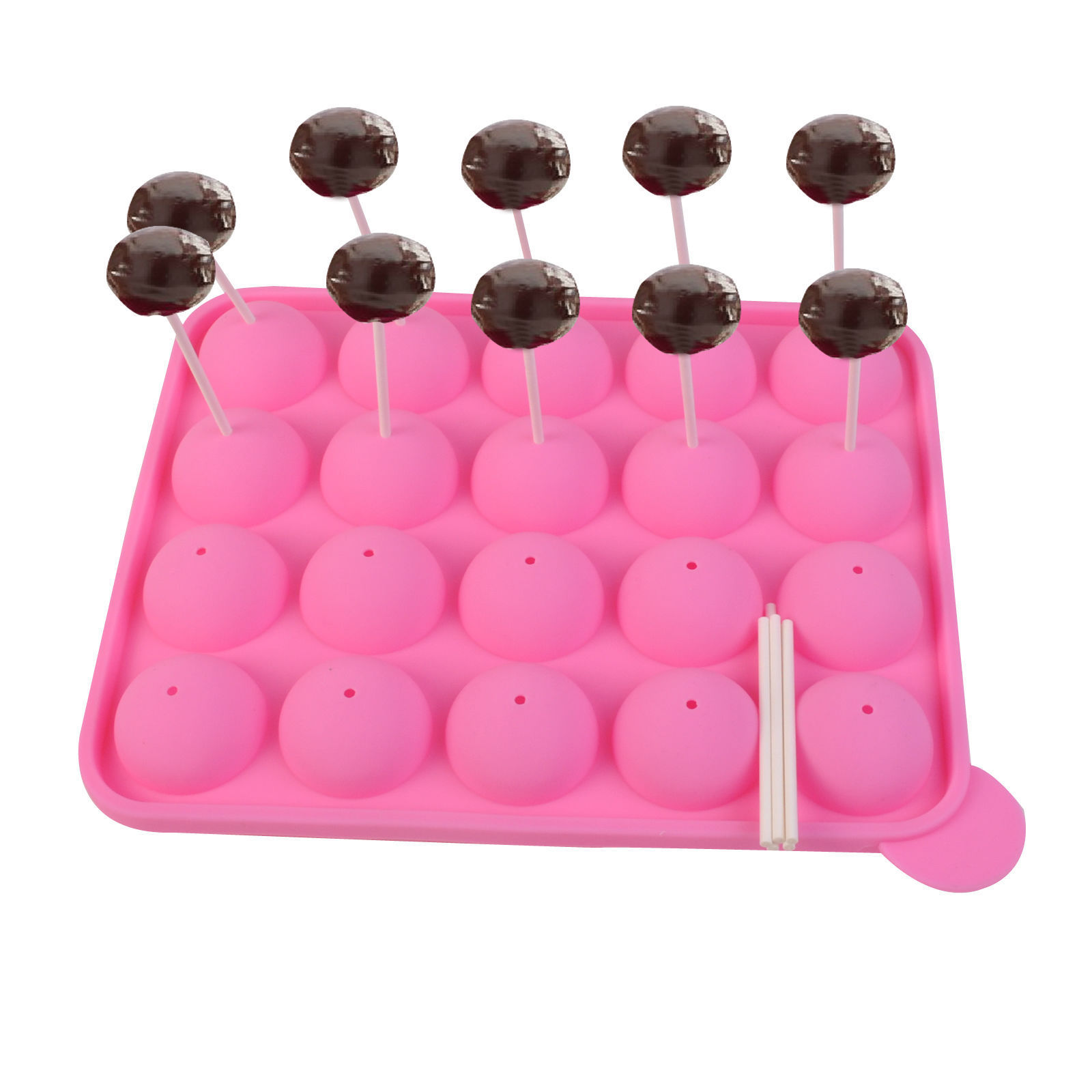 20 Cup Tasty Cake PopSilicone Mold Tray Easy Instant Baking Flex Pan KC33456