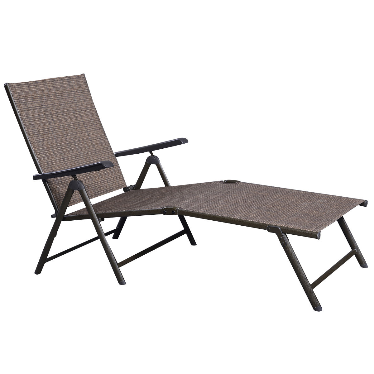 Outdoor Adjustable Chaise Lounge Chair Sunloungers Outdoor