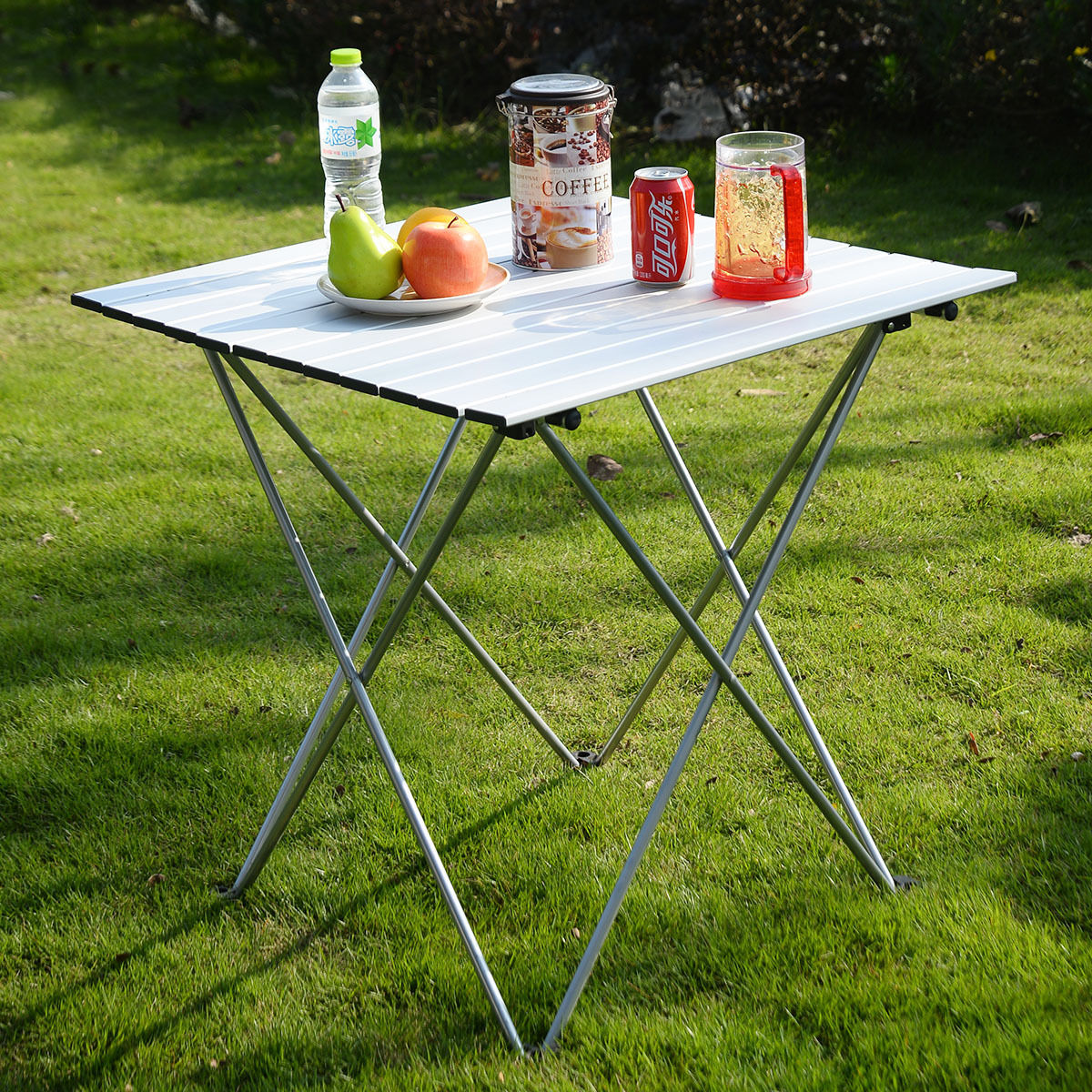 Charmant Outdoor Aluminum Roll Up Folding Camping Table   Outdoor Tables   Outdoor  Furniture   Furniture